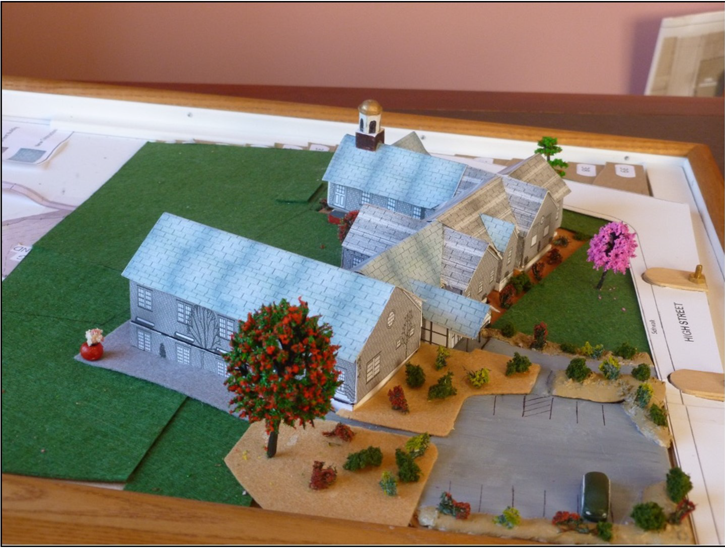 Diorama of church expansion