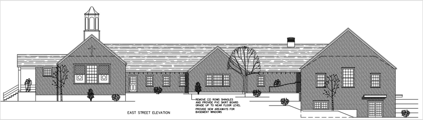 Architect's drawing of church expansion